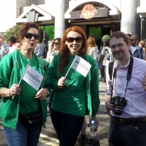 Kathy, Saoirse and John from Innisfree