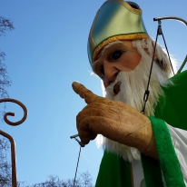 St Patrick blessing the crowd
