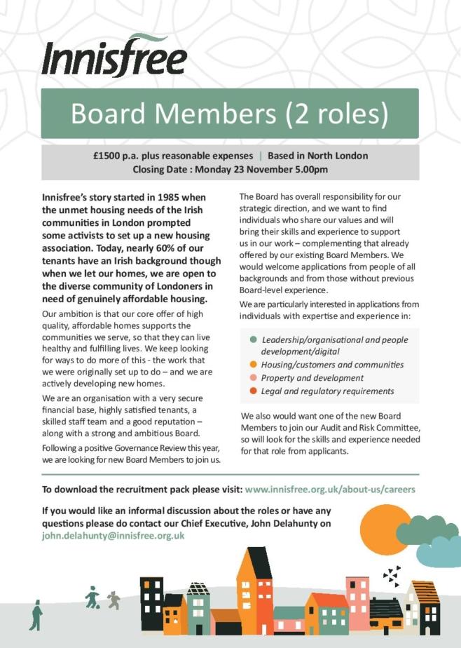 Board recruitment advert